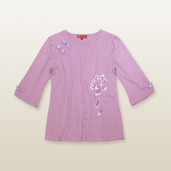 零れロータス太極拳Tシャツ
